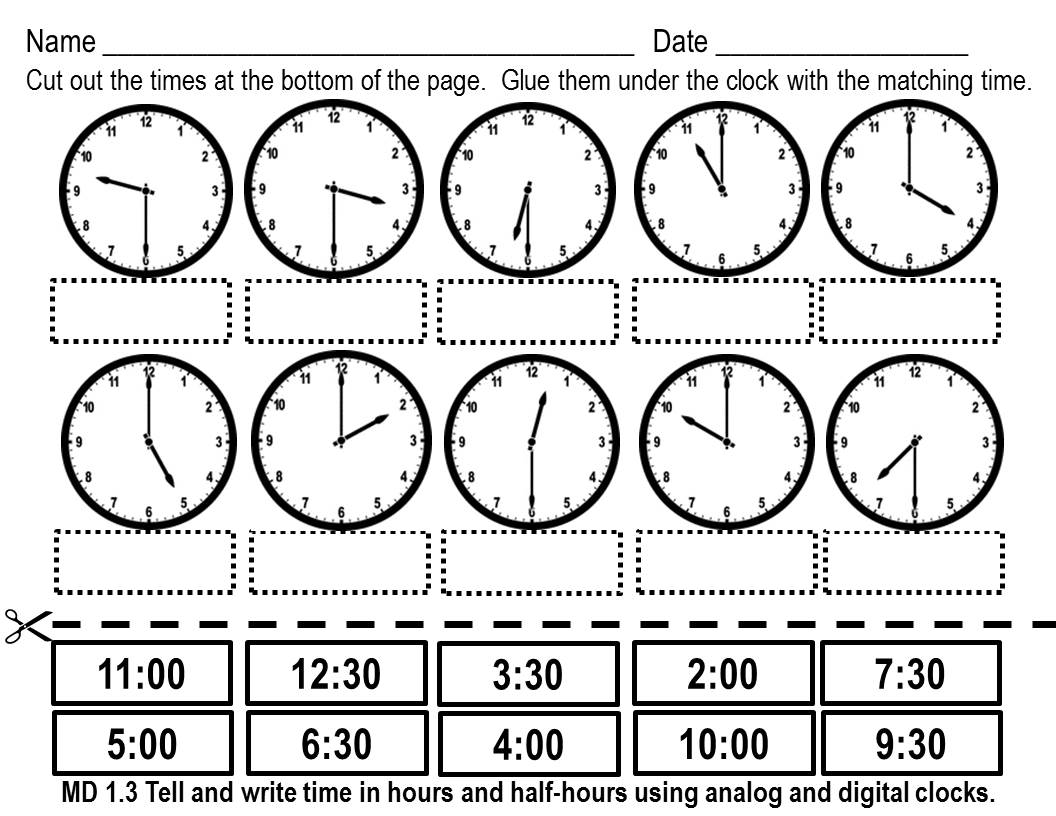 Kindergarten 100 [ Clock Worksheets Grade 3 ]