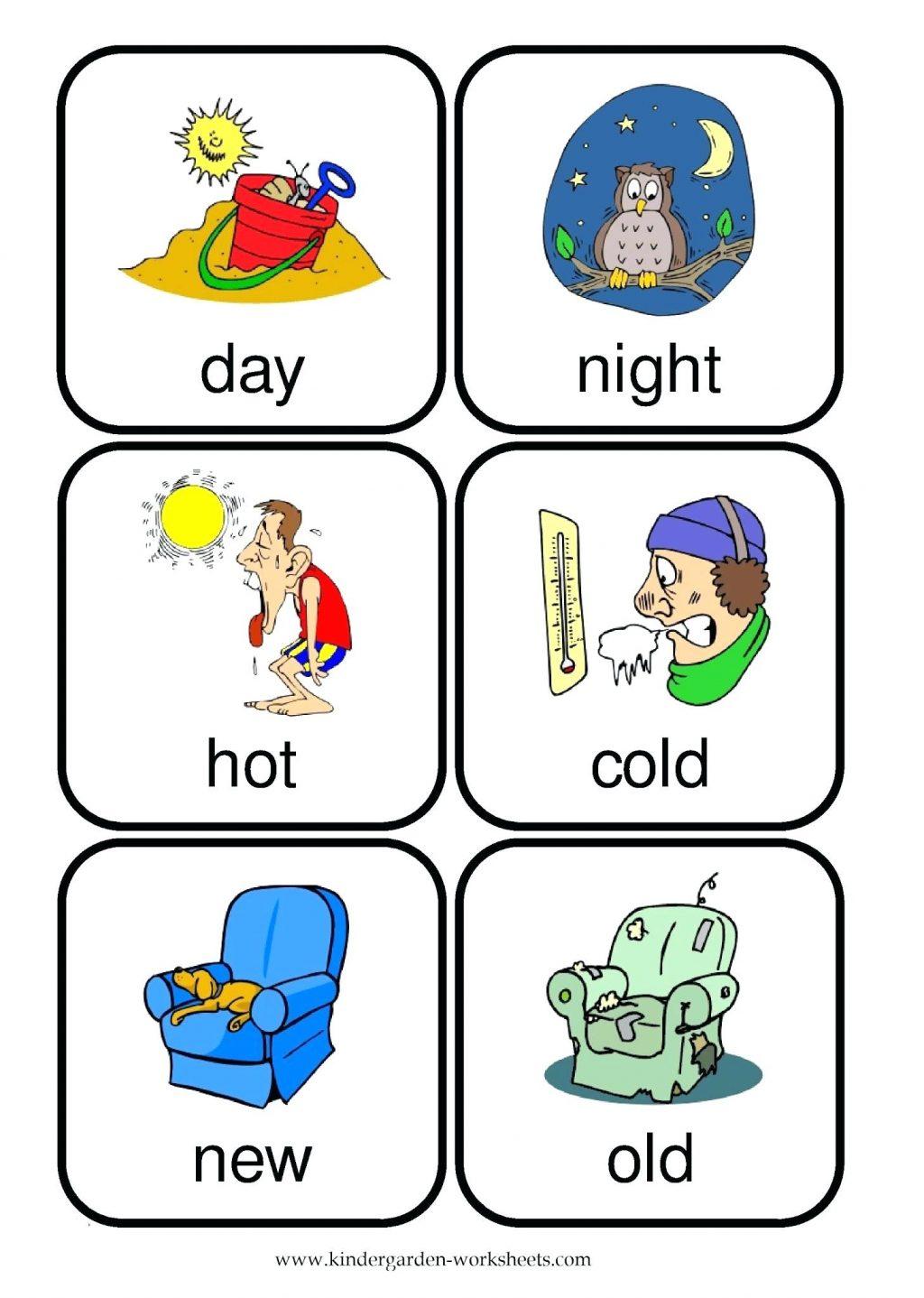 Kindergarten  Hot And Cold Worksheets For Kindergarten Opposite
