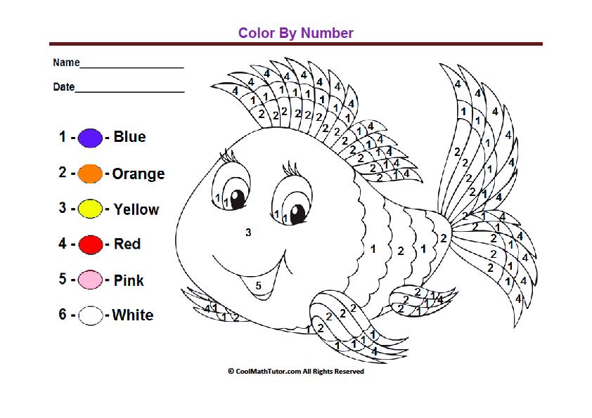 Kindergarten Color By Numbers Worksheets The Best Worksheets Image