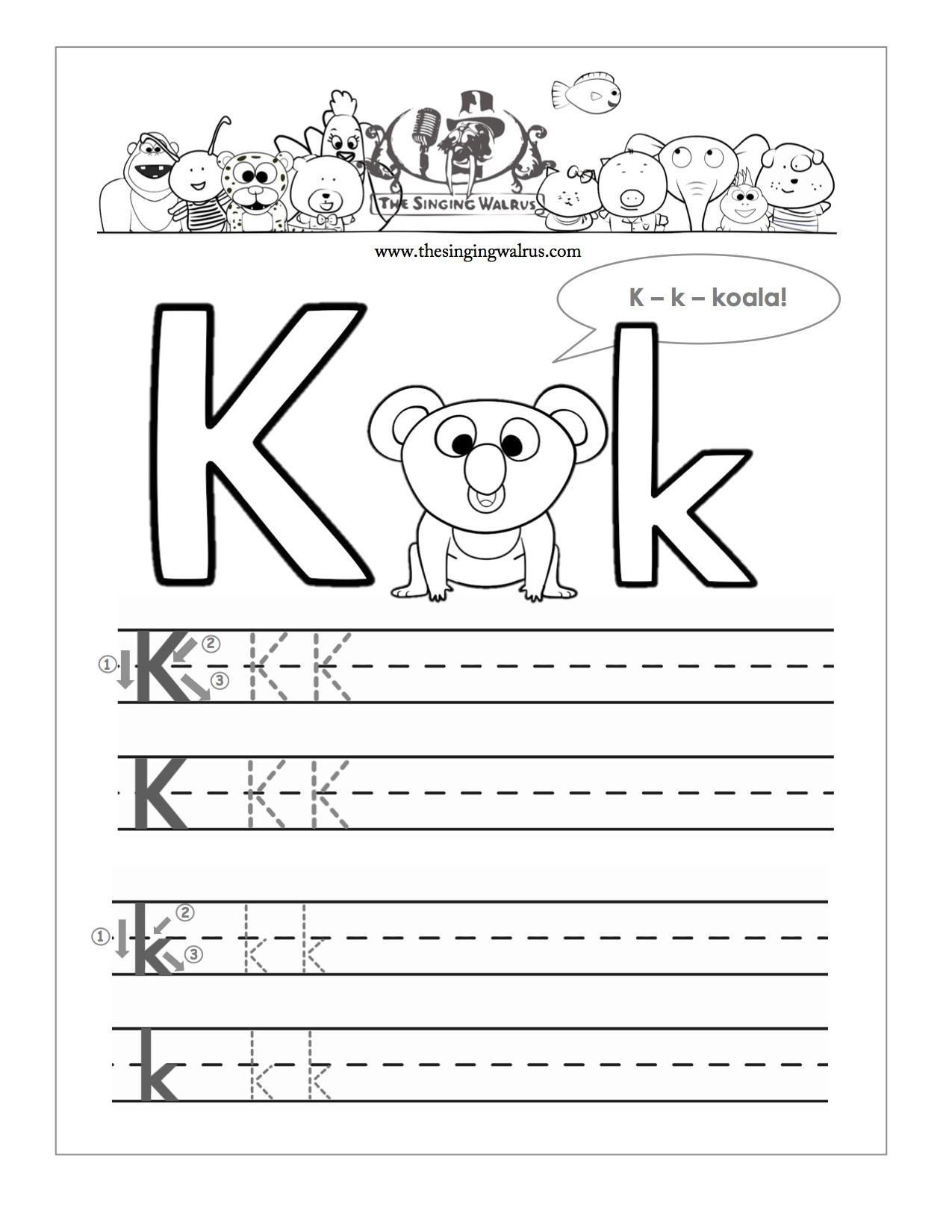 Kindergarten Free Handwriting Worksheets For The Alphabet Abc