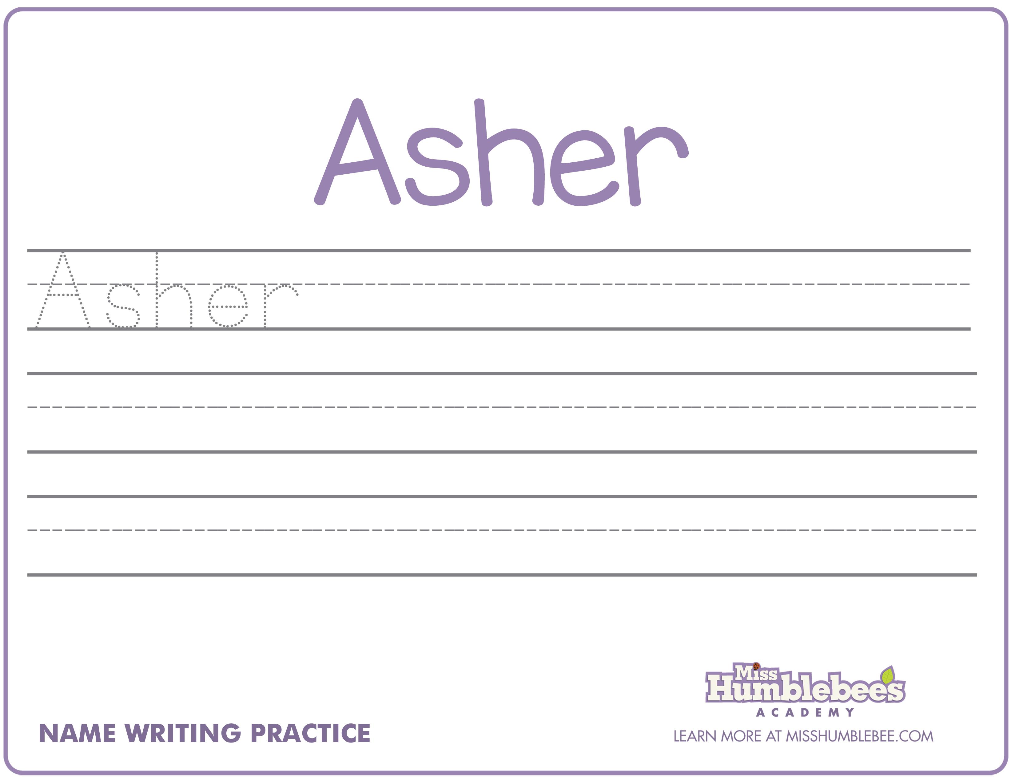 Kindergarten Handwriting Worksheets For Kindergarten Names, Name
