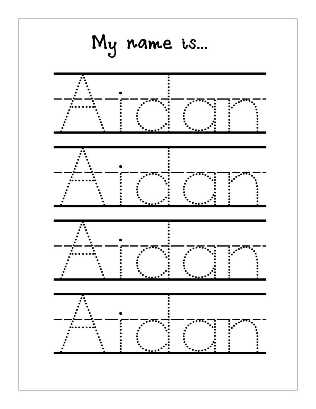 Kindergarten Name Worksheets Worksheets For All