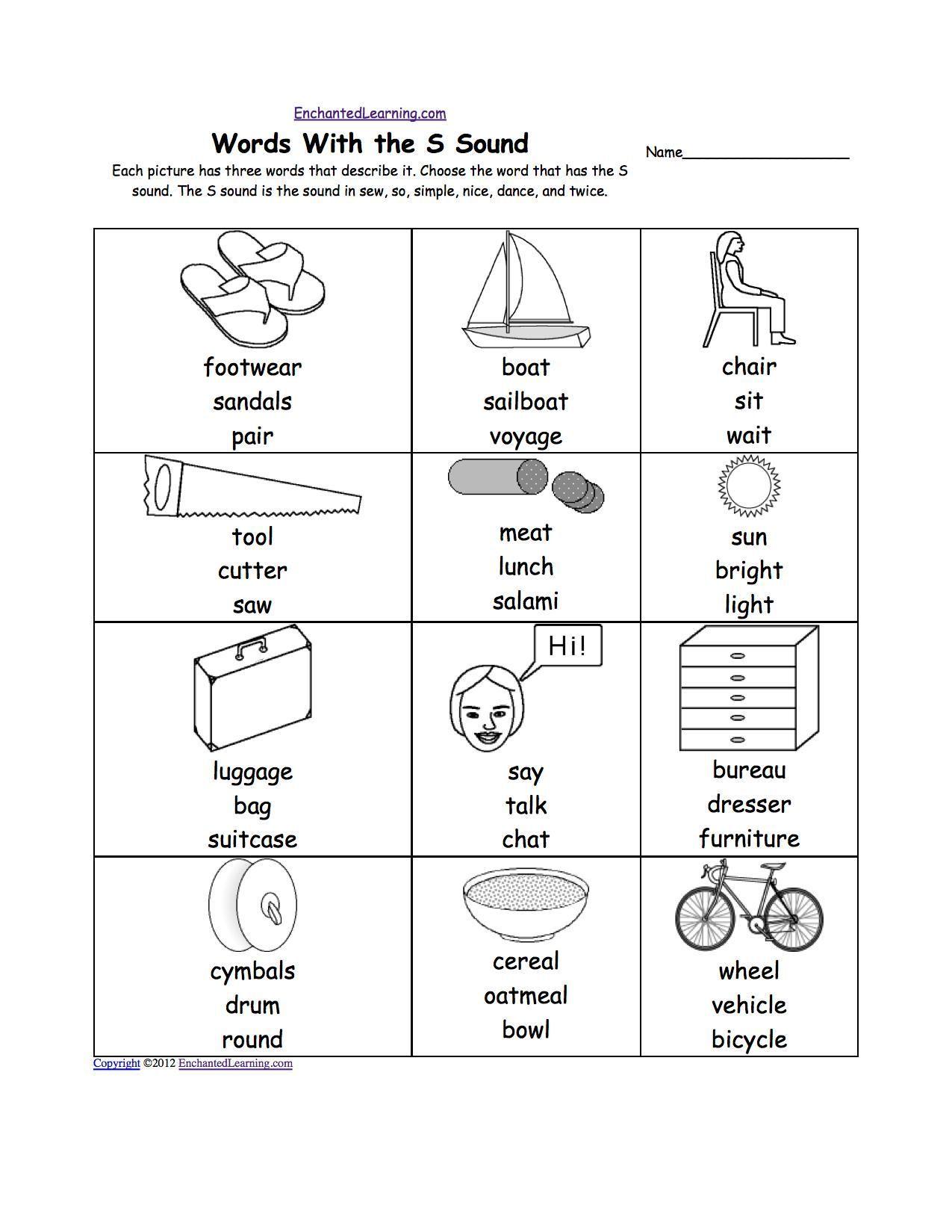 Kindergarten Sh Words Worksheets For Kindergarten