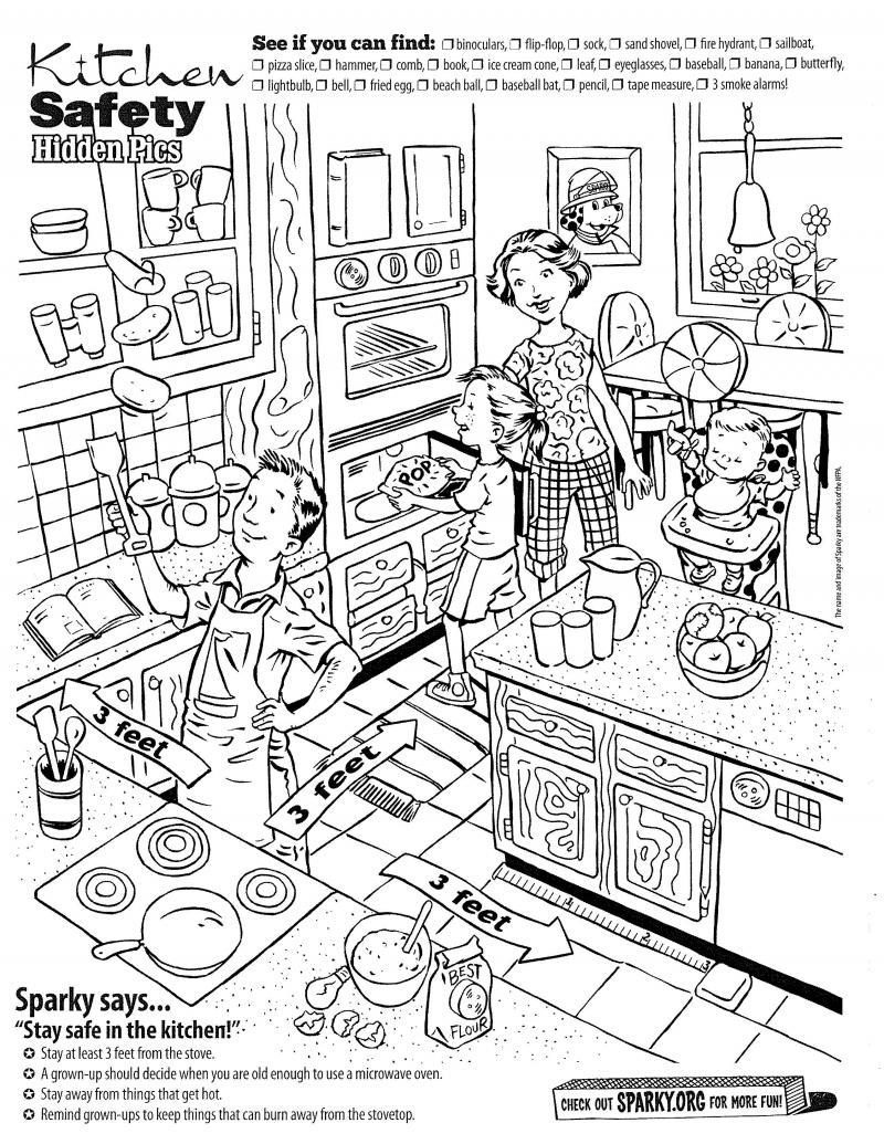 Kitchen Charming Kitchen Safety Worksheets Intended Lesson Plans