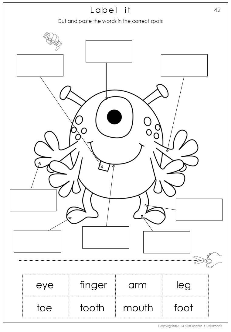 Label Body Parts Worksheet For Grade 1
