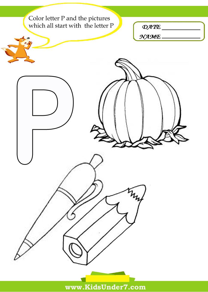 Letter P Preschool Worksheets Worksheets For All