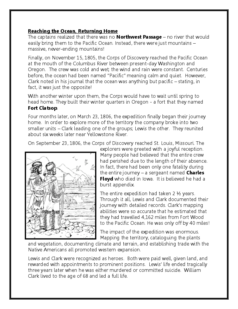 Lewis And Clark Worksheets Worksheets For All