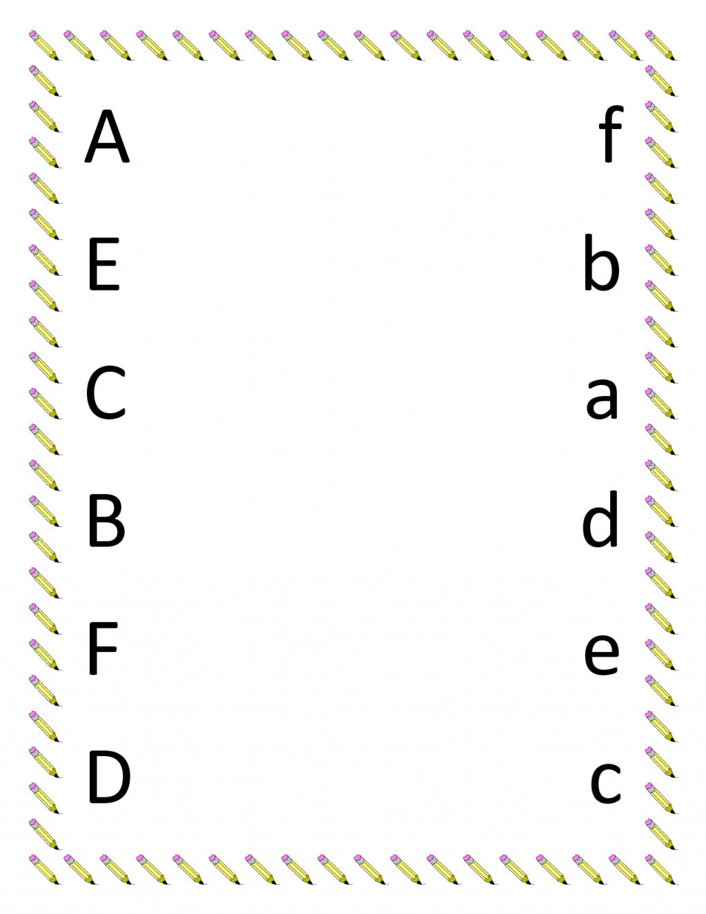 Matching Worksheet For Kindergarten Math Worksheets Free Alphabet