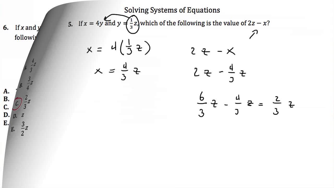 Math Worksheets Act Intermediate Algebra Worksheet Youtube