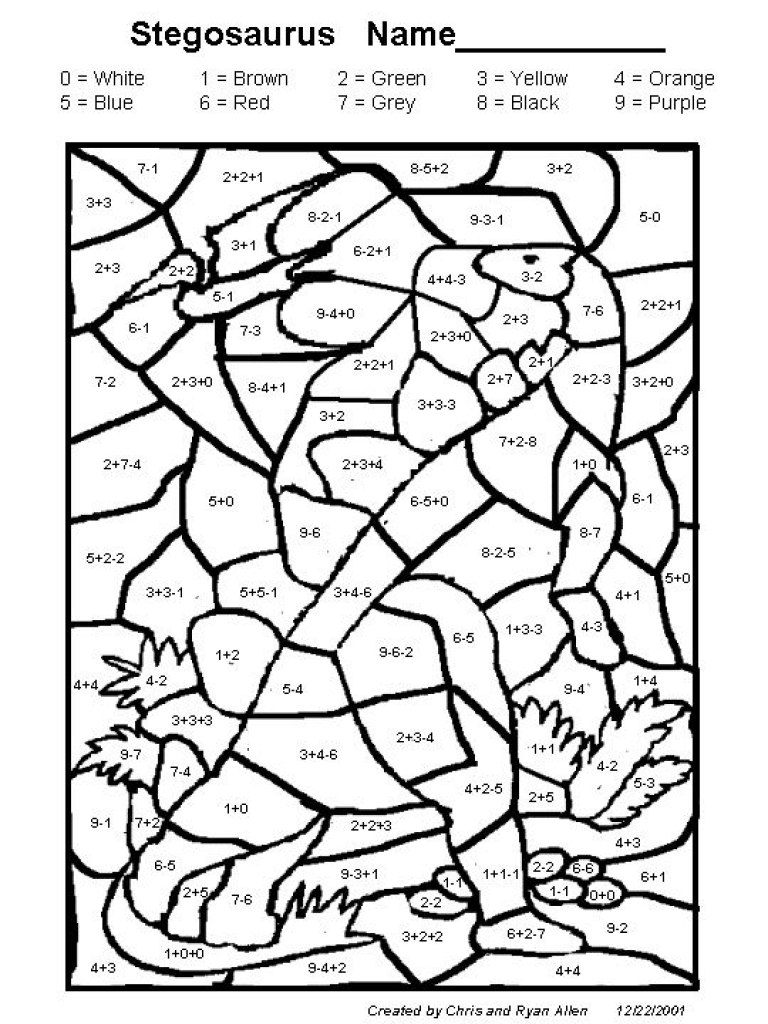 Math Worksheets Halloweendition And Subtraction Coloring Sheets