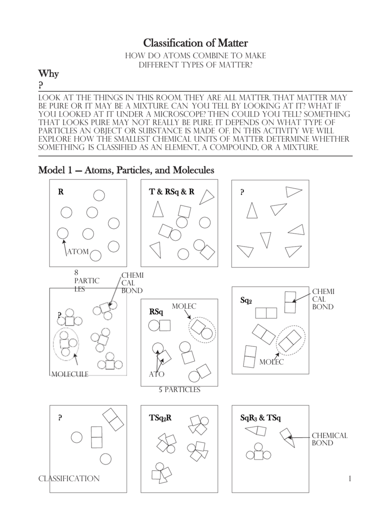 Matter And Its Properties Worksheet Middle School Chemistry