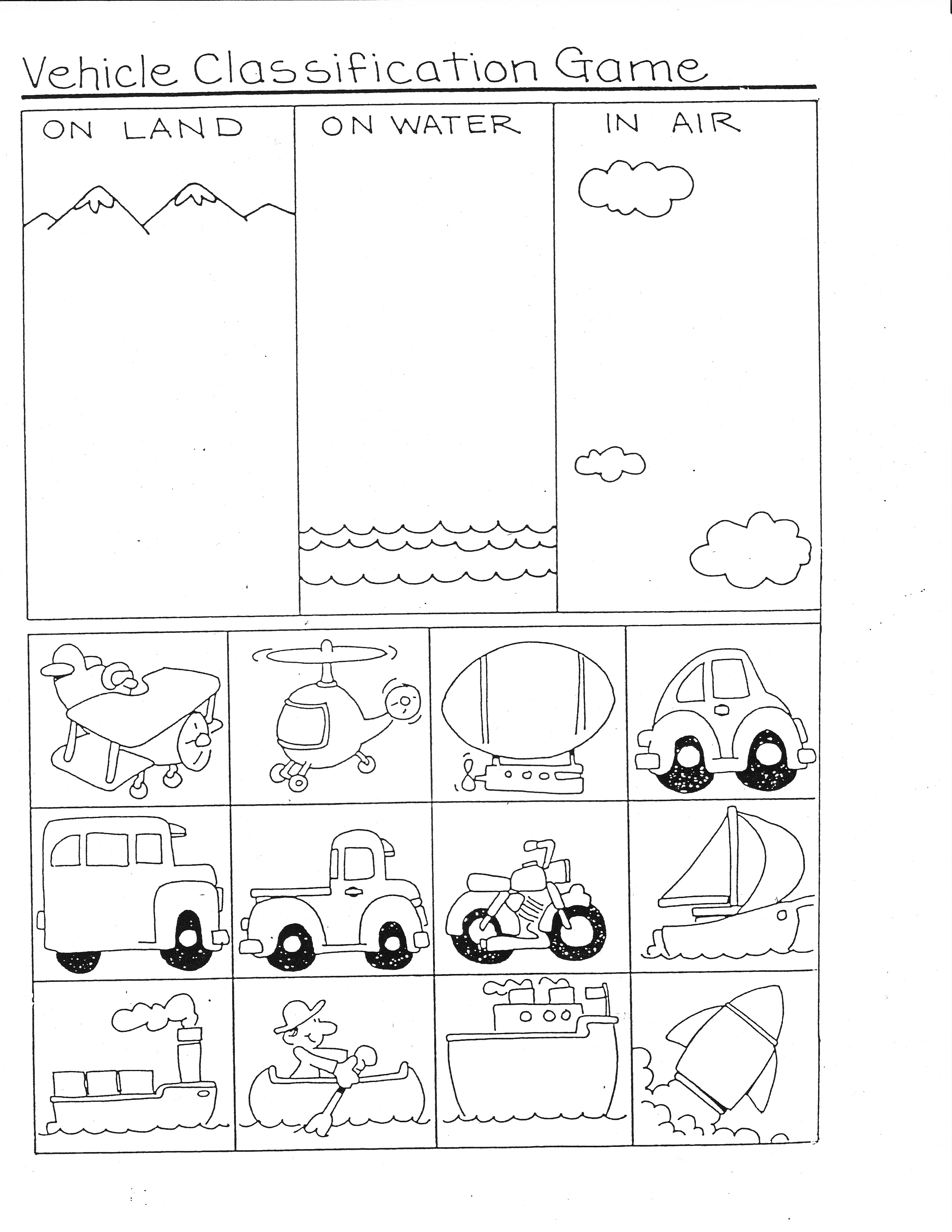 Means Of Transportation Tracing Worksheet Math Mad Minute
