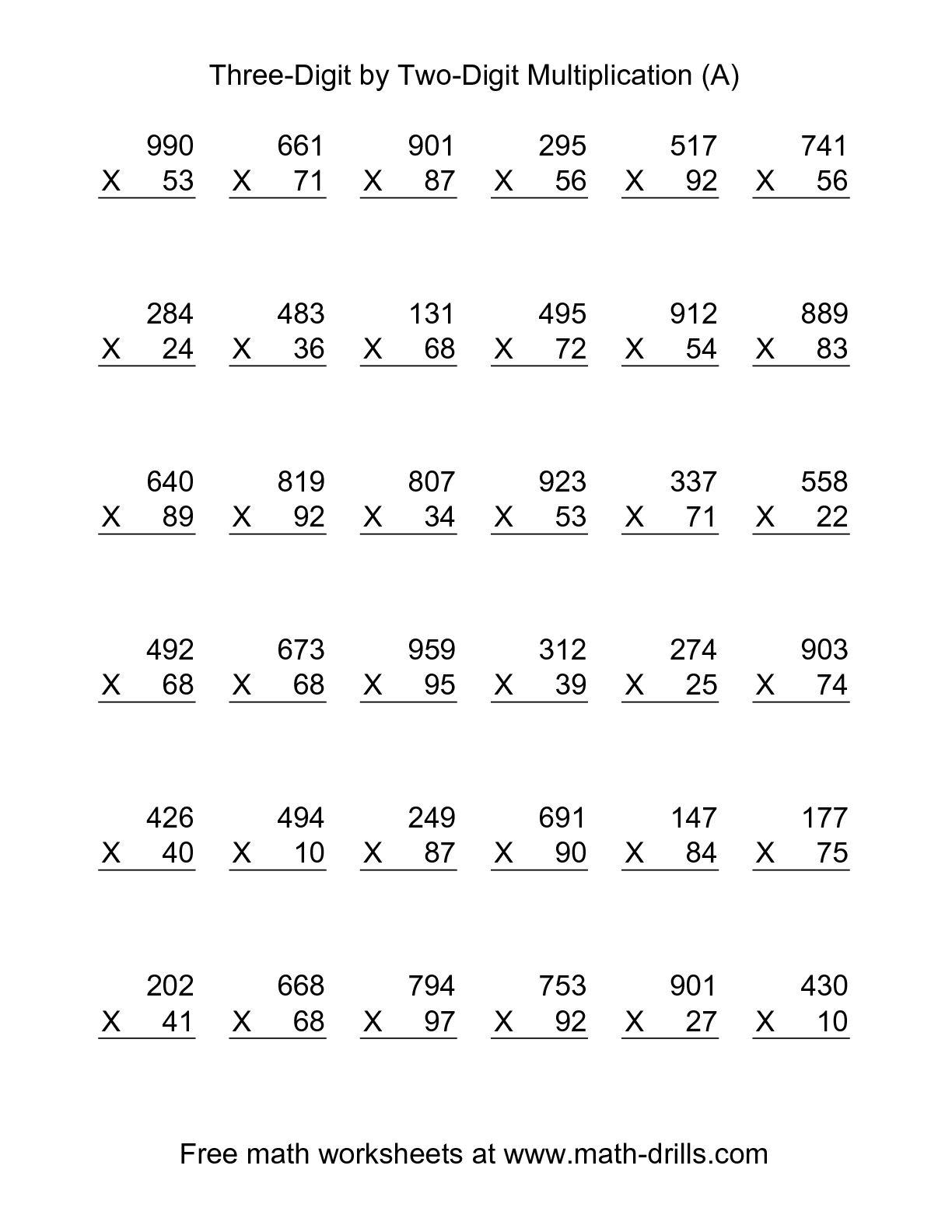 Multiplications  Onet Multiplication Worksheet Free Single