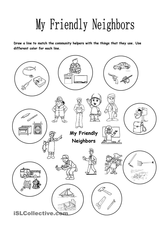 My Friendly Neighbors Community Pinterest Helpers Worksheets