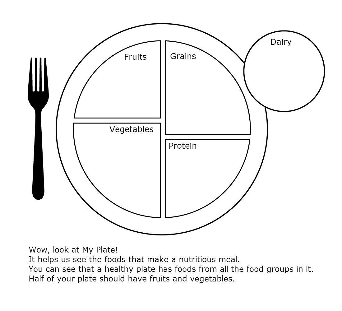 My Plate Worksheet For Health