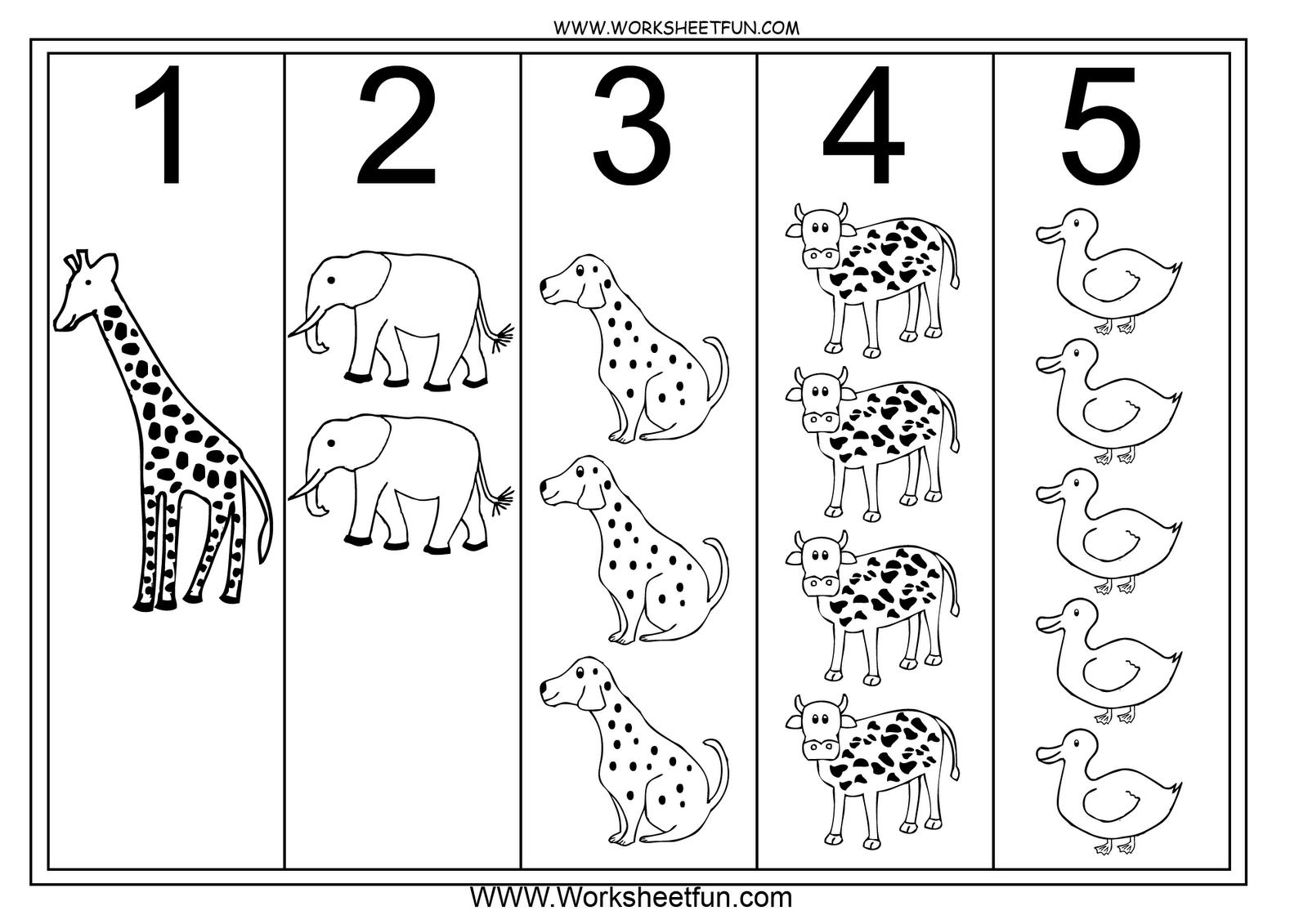 Number Worksheet 1