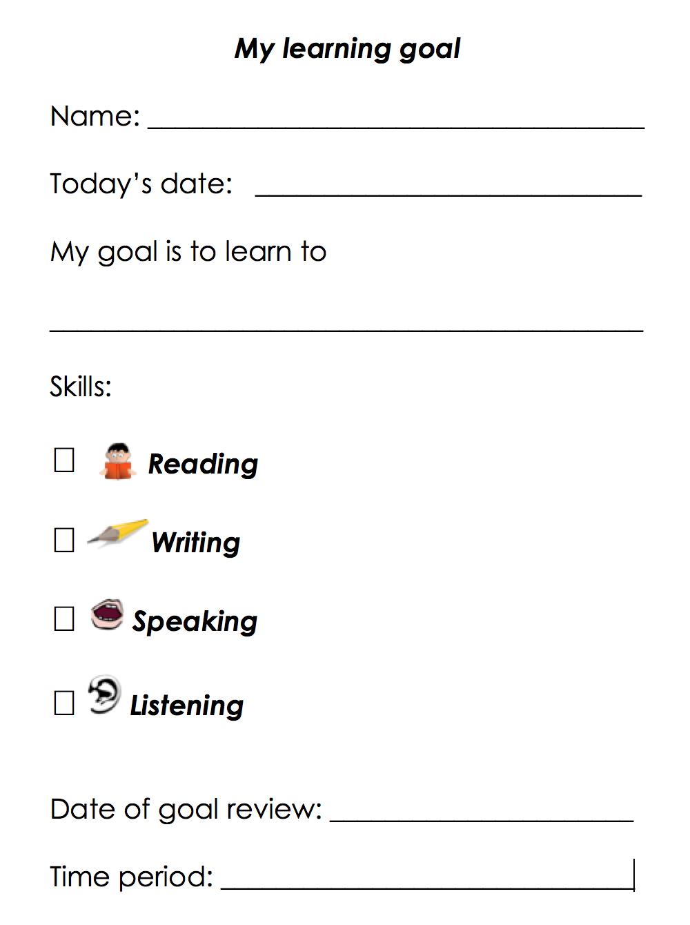 Nwea Goal Setting Worksheet Free Worksheets Library