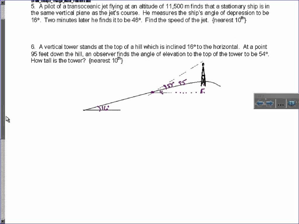 Oblique Triangle Word Problems