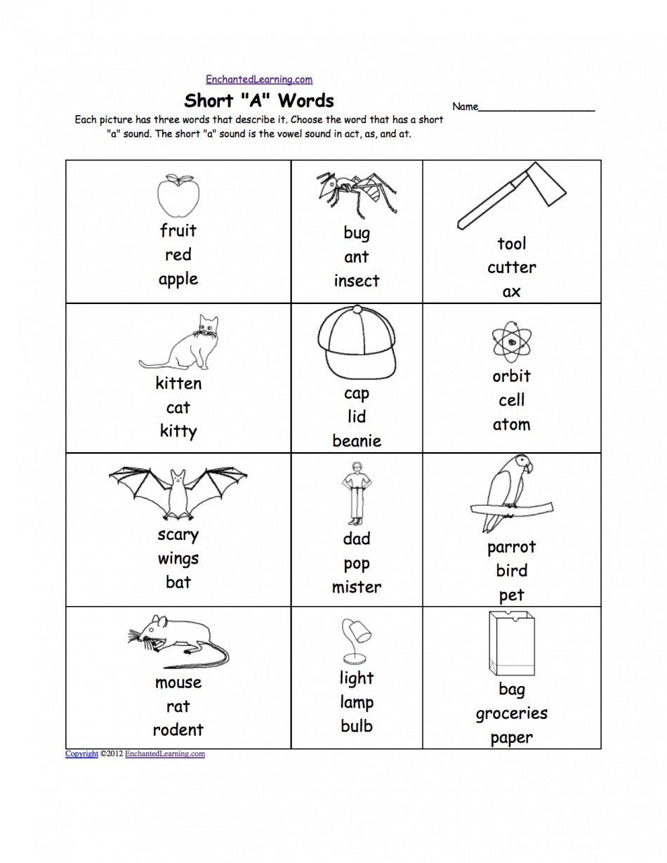 Op Word Family Worksheets Worksheets For All