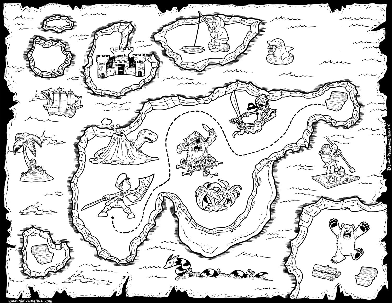 Pirate Treasure Maps For A Pirate Birthday Party Treasure Hunt