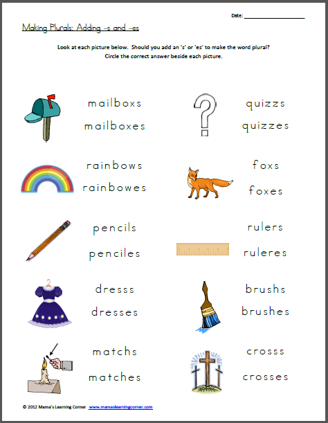 Plural S Worksheets The Best Worksheets Image Collection