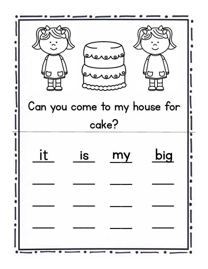 Pre Primer Sight Words Worksheets Worksheets For All