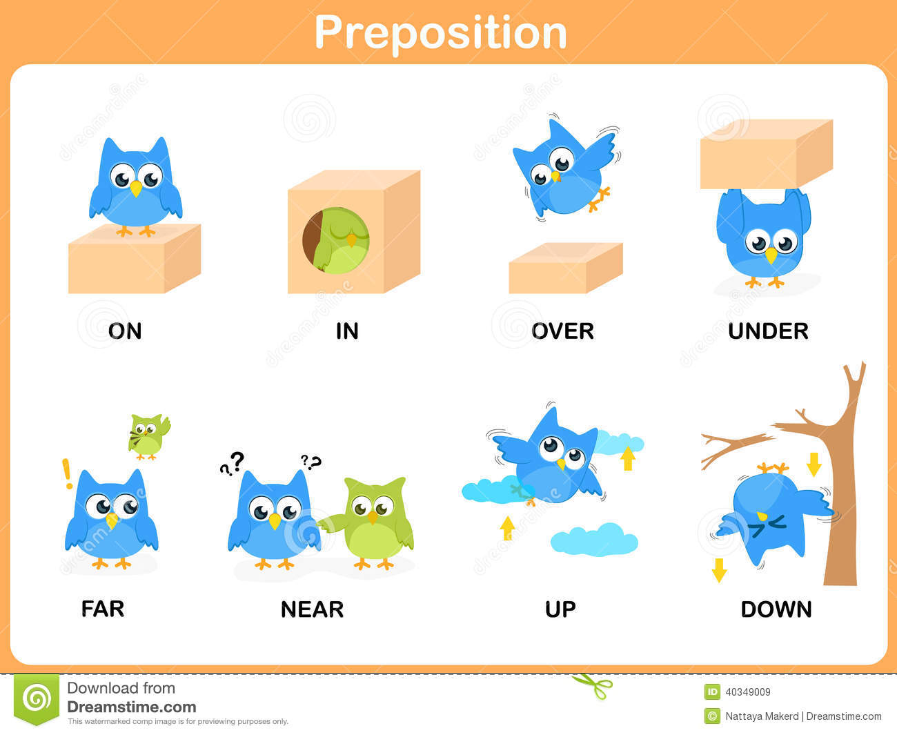 Preposition Stock Illustrations – 95 Preposition Stock