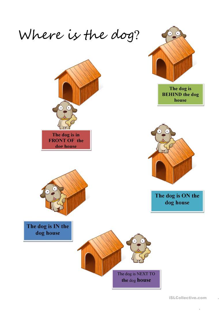Prepositions For Kids Worksheet