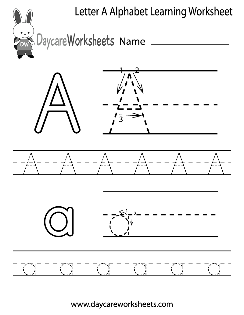 Preschool Alphabet Worksheets To Print Worksheets For All