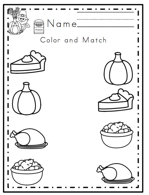 Preschool Thanksgiving Worksheet The Best Worksheets Image