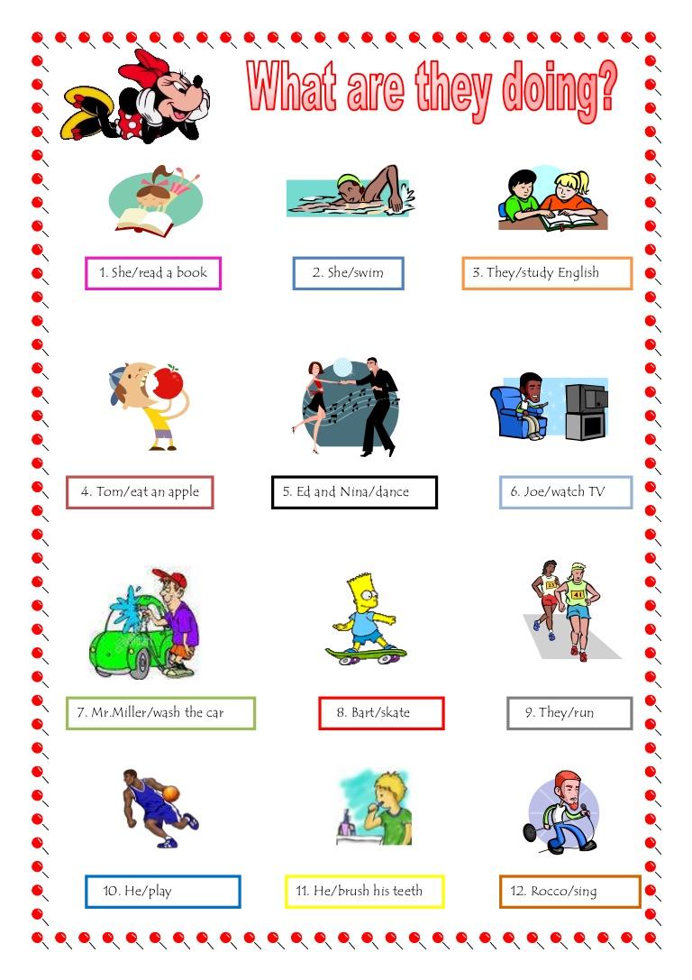 Present Progressive Verbs Worksheets Worksheets For All
