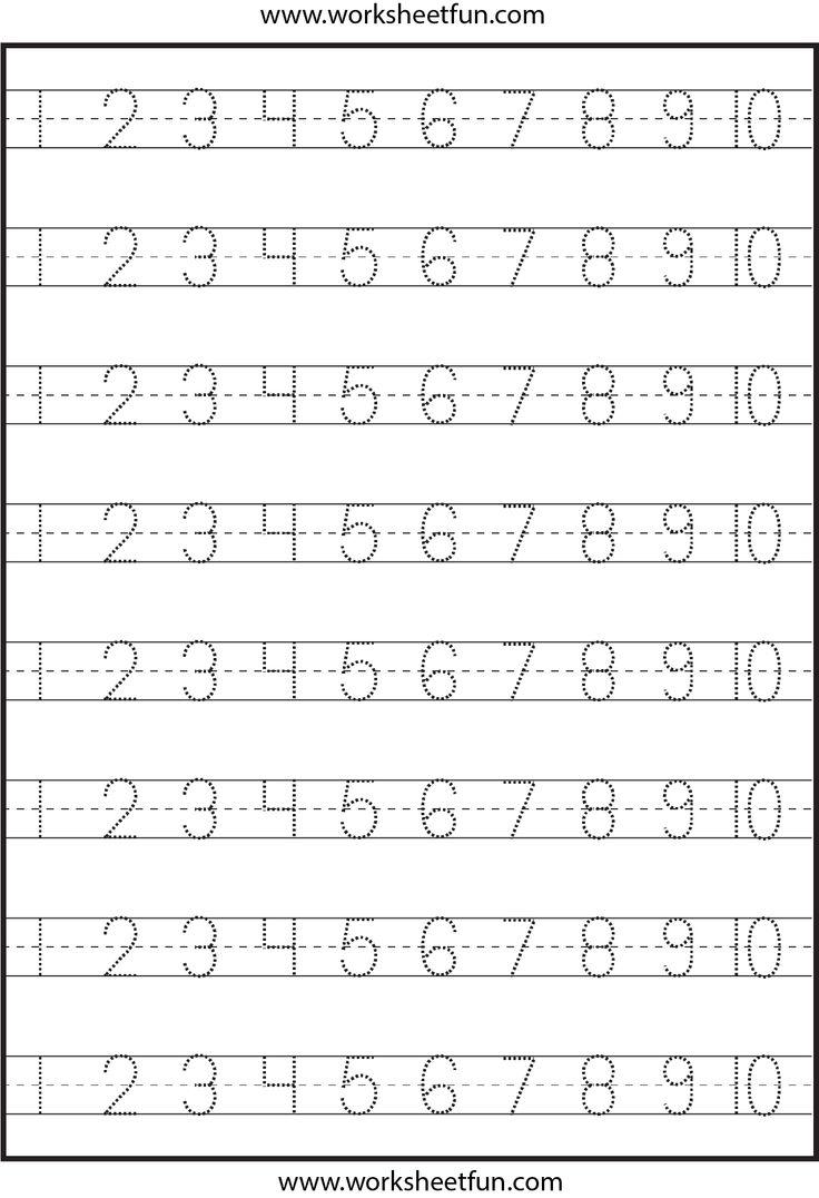 Print Numbers Worksheets