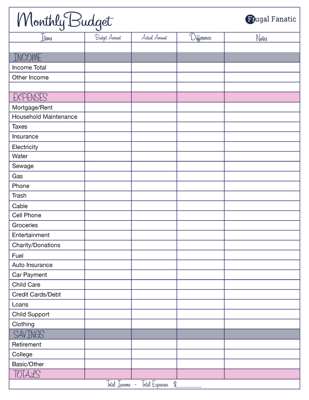 Printable Budgeting Worksheets The Best Worksheets Image