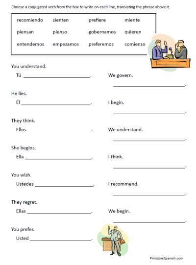 Printable Spanish Worksheets For High School Kids  Printable  Best