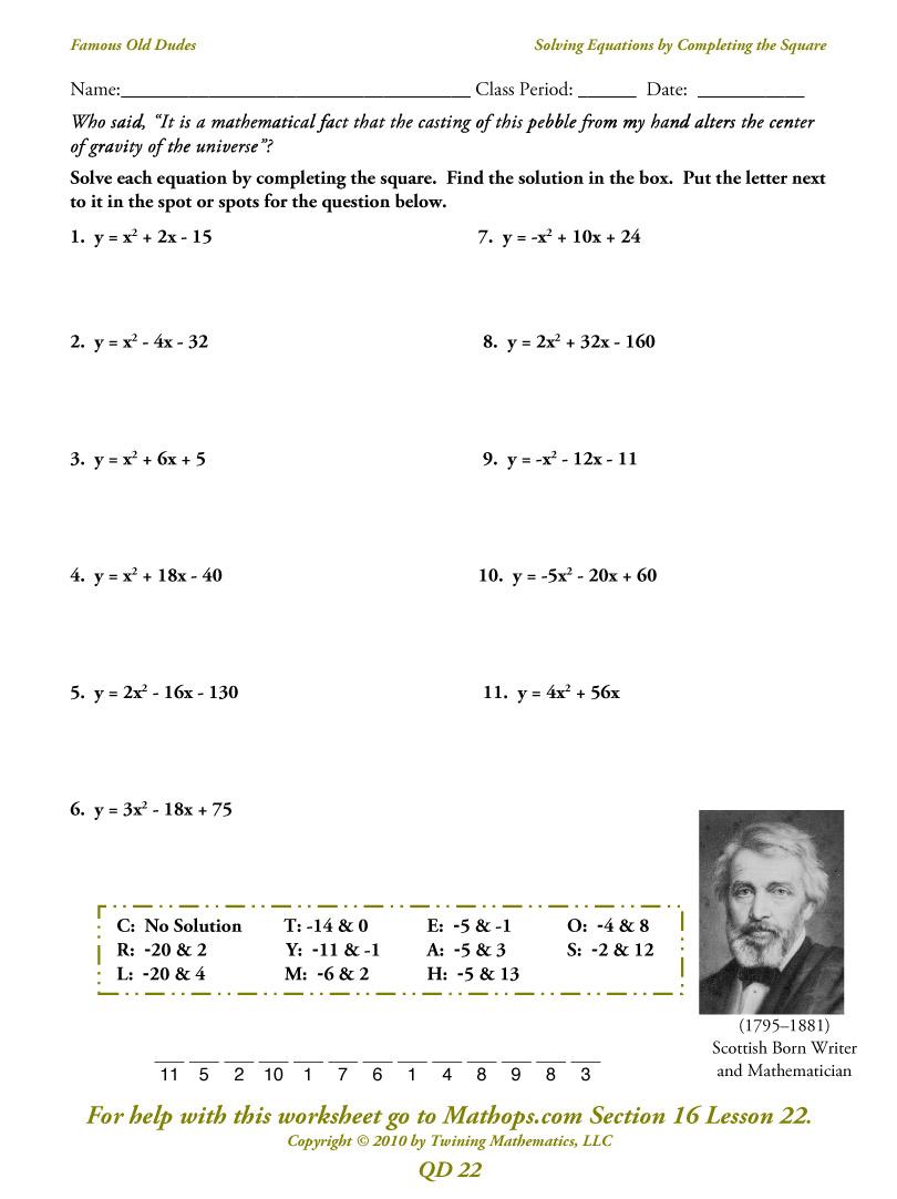 Qd 23  Imaginary Numbers