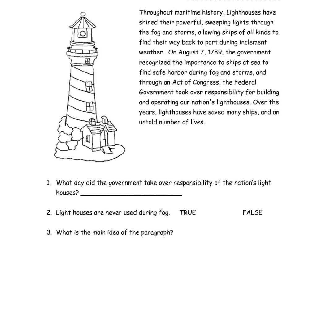 Reading Comprehension Worksheets For Grade 3 Pdf And