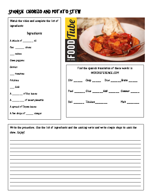 Reading Recipes Worksheets The Best Worksheets Image Collection
