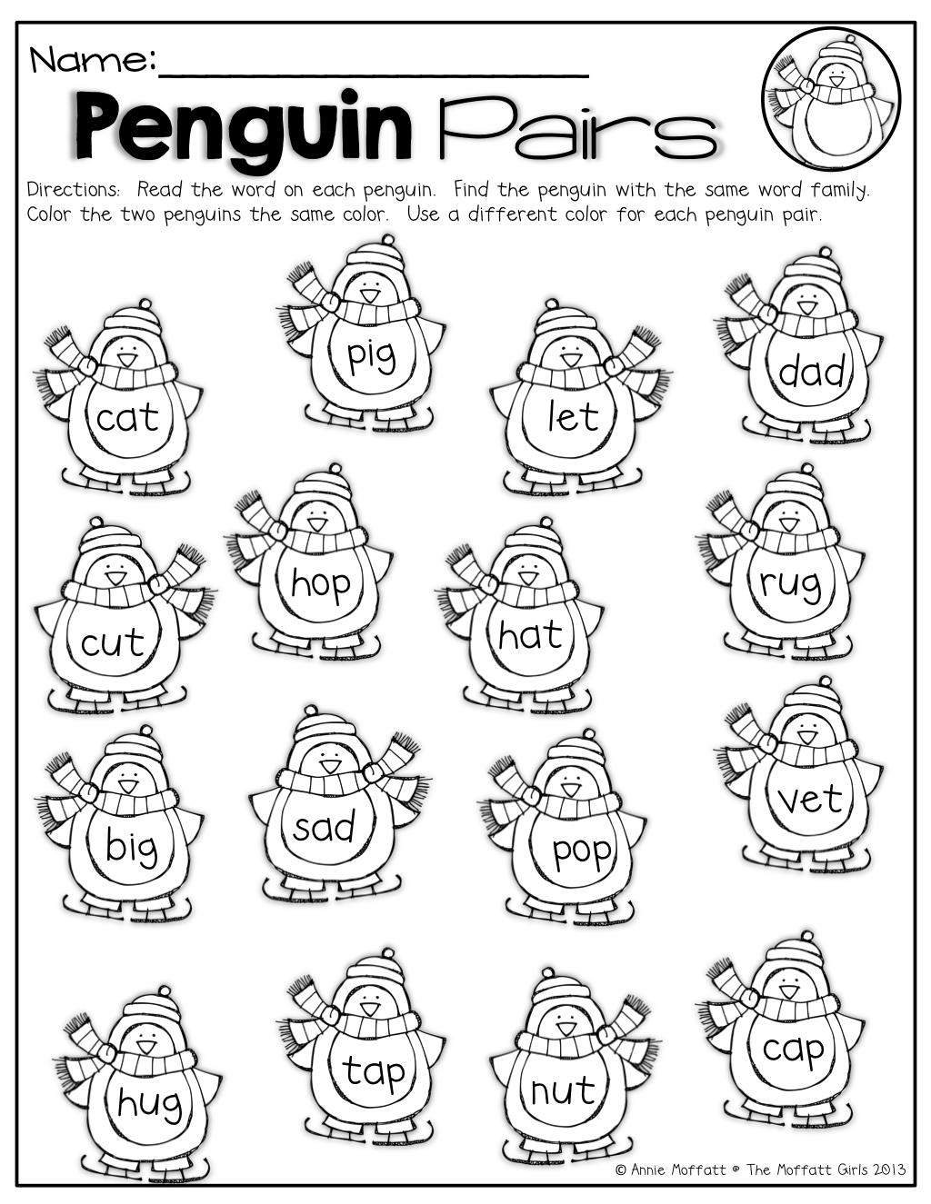 Rhyming Words Worksheet For Kindergarten Math Worksheets Read And