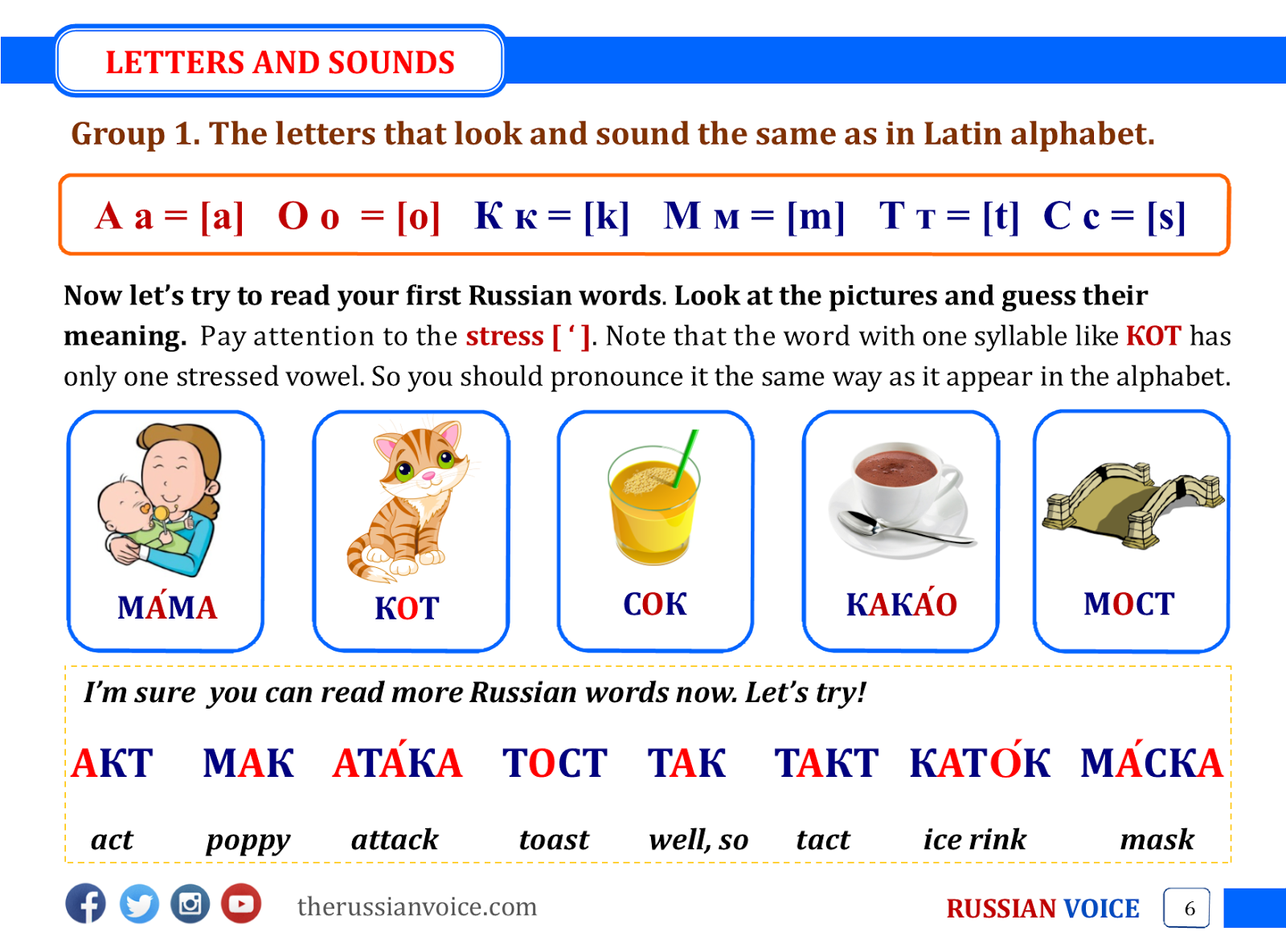 Russian Learning Materials For Beginners ~ Russian Voice  Russian