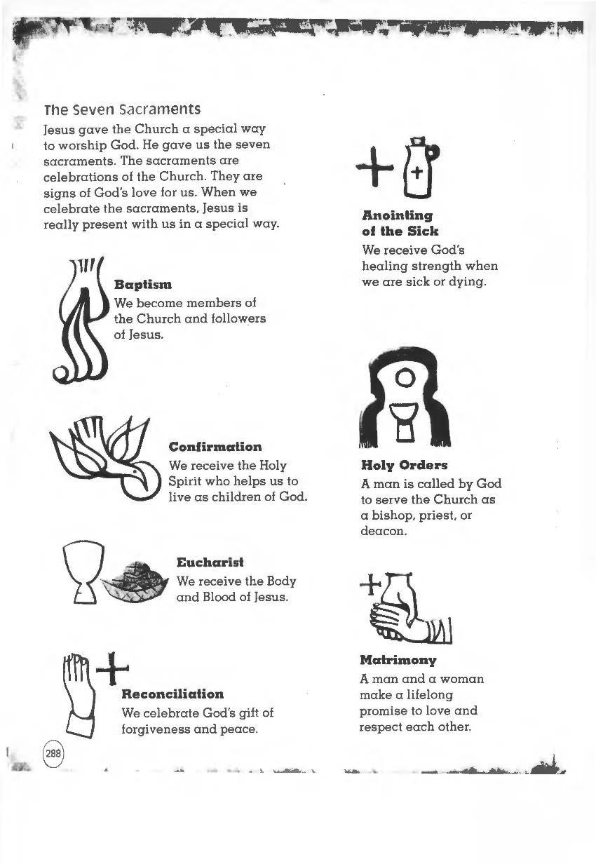 Seven Sacraments Worksheet Worksheets For All