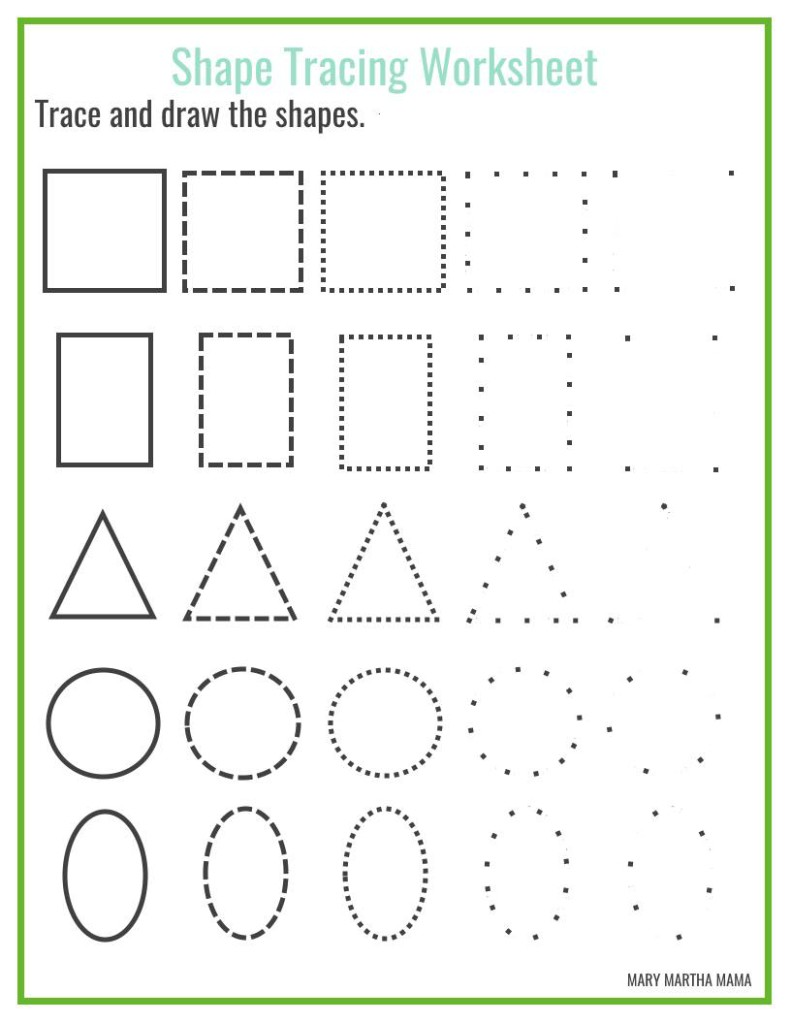 Shape Tracing Worksheets For Worksheets For All