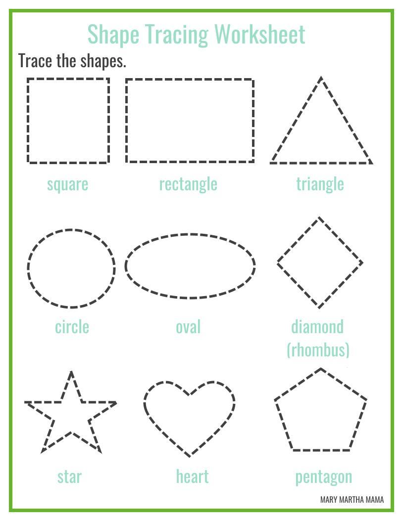 Shapes Worksheets For Preschool [free Printables] – Mary Martha Mama