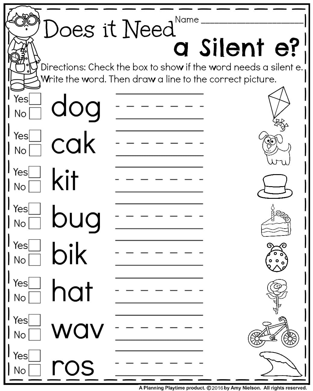 Silent E Worksheets Free Printable Worksheets For All