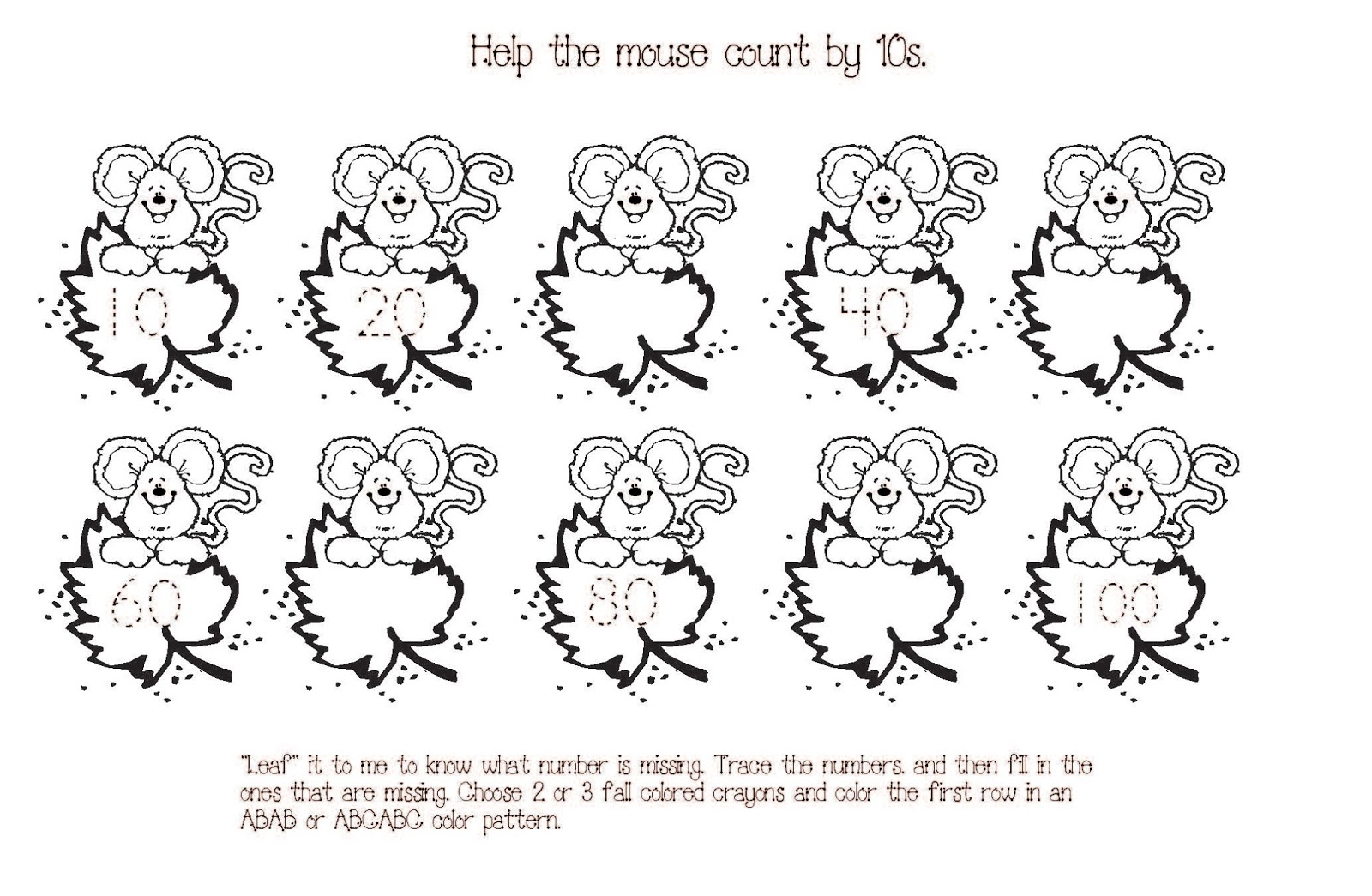 Skip Counting By 10 Worksheets For Kindergarten Worksheets For All