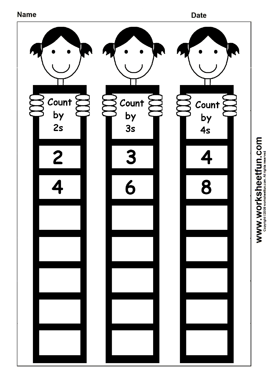 Skip Counting By 2, 3 And 4