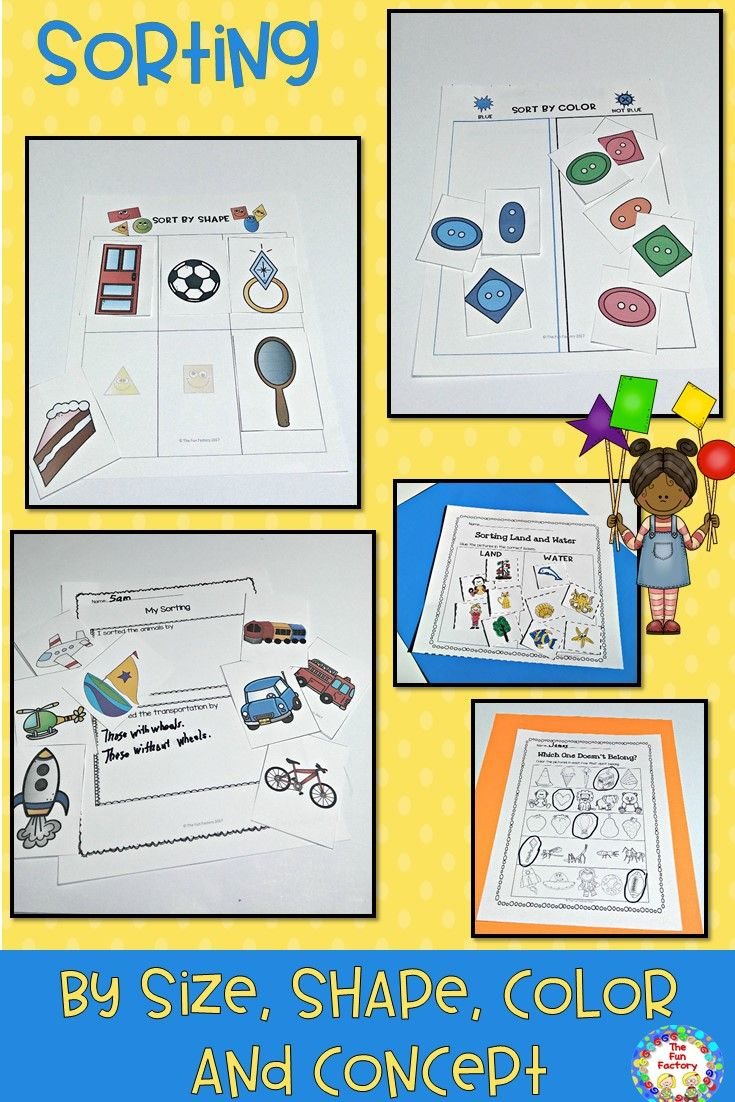 Sorting ~ Center Activities And Worksheets