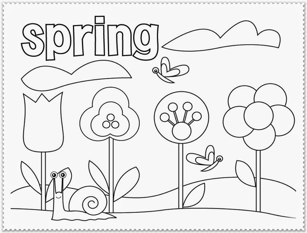 Spring Coloring Pages For Second Graders Murderthestout Math