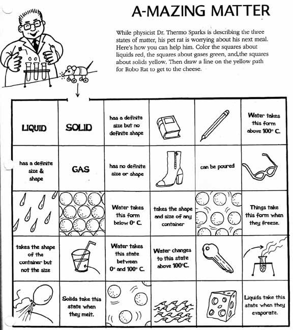 States Of Matter Worksheet Middle School The Best Worksheets Image