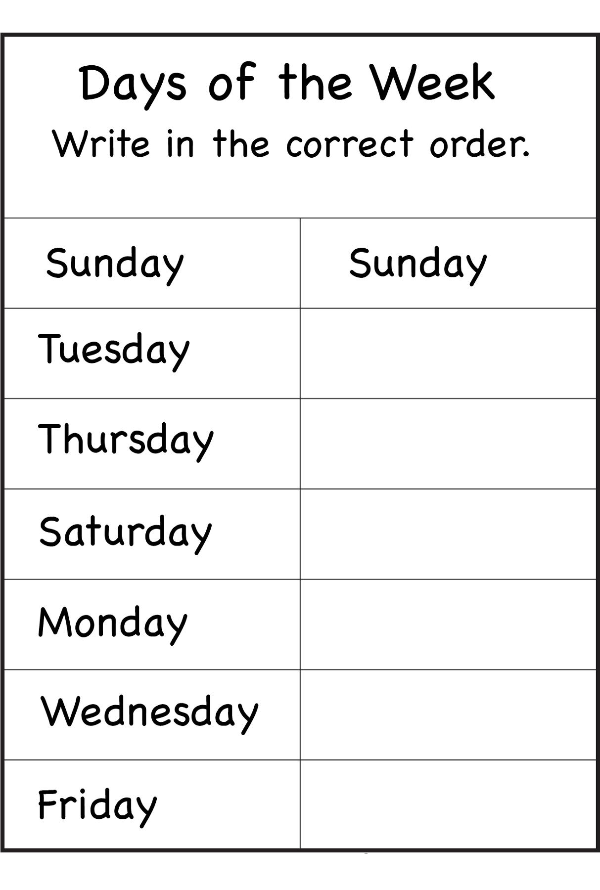 Teaching Days Of The Week To Preschoolers