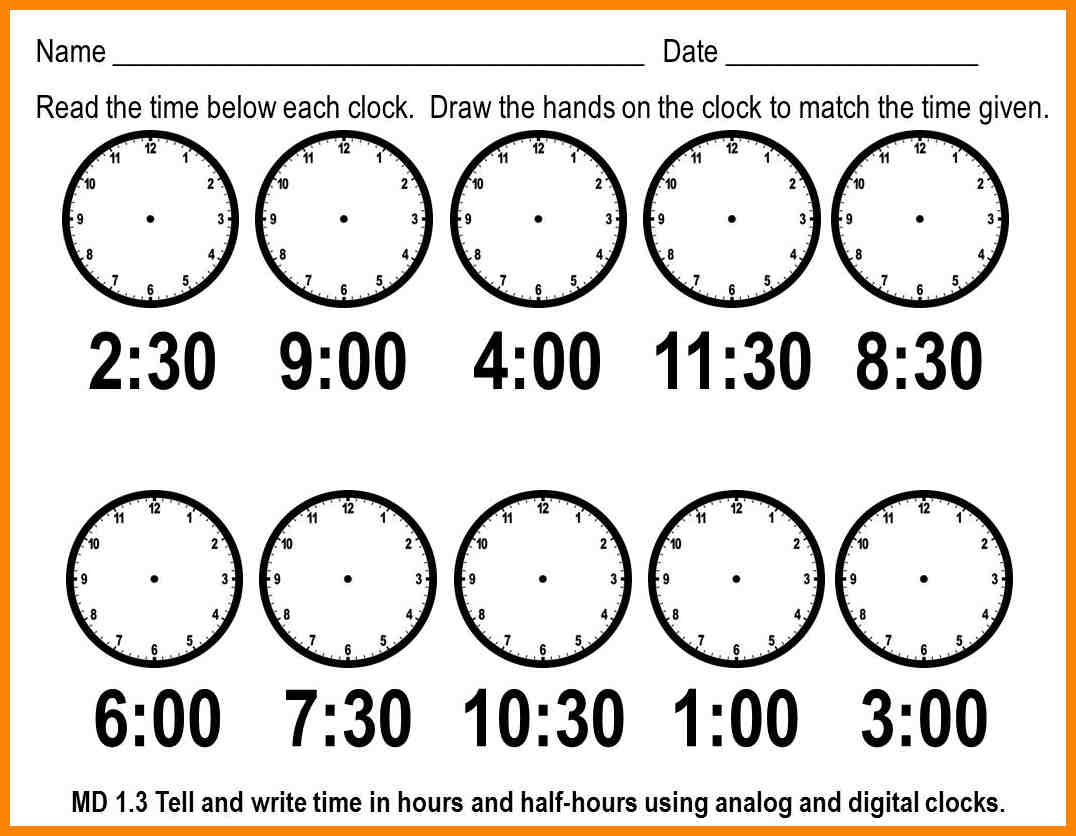 Telling Time Math Worksheets Homeschool 5 Minutes 3rd Grade